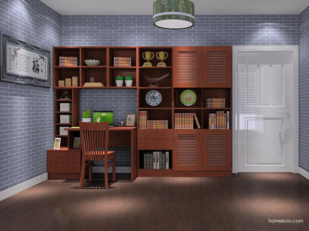 新中式主义书房家具C8387