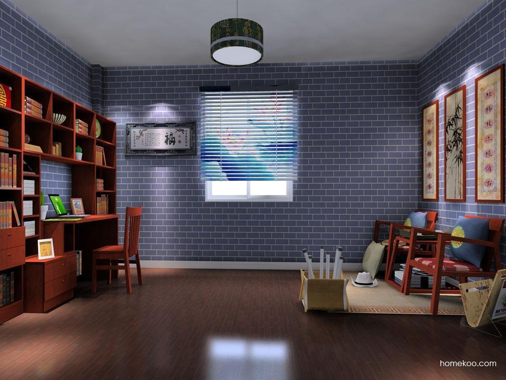 新中式主义书房家具C8396