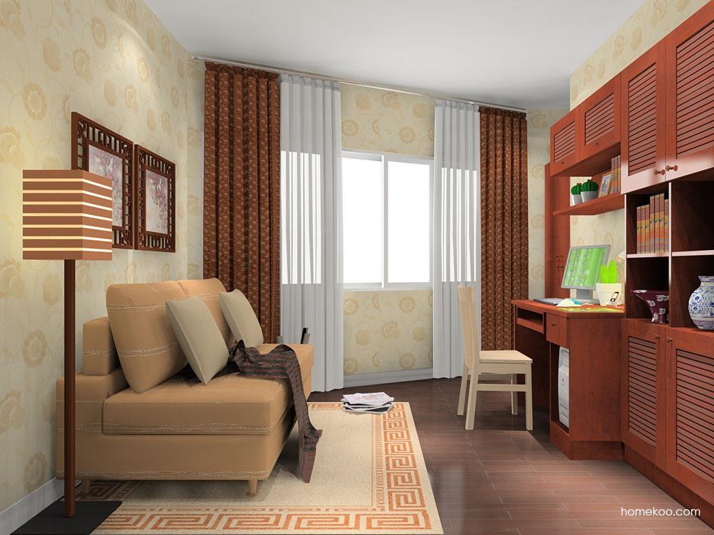新中式主义书房家具C8546