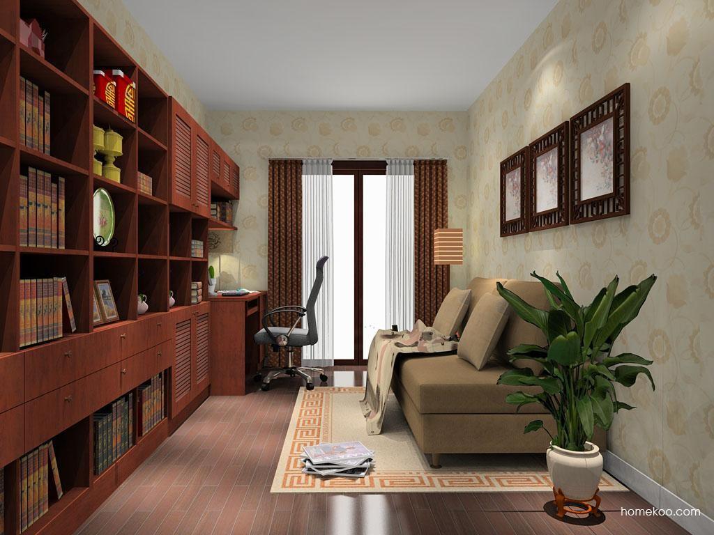 新中式主义书房家具C9029