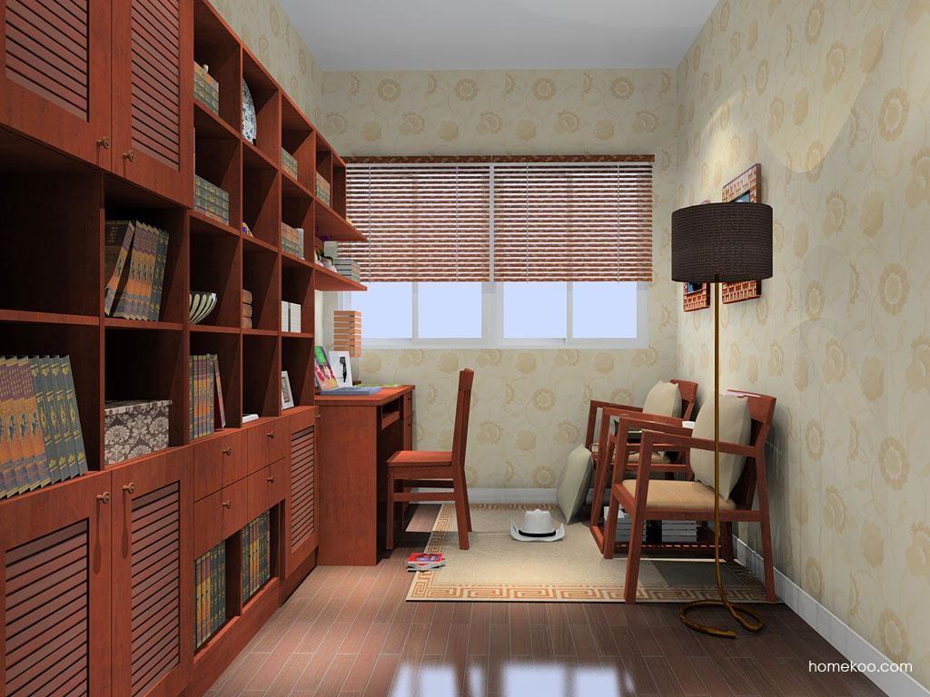 新中式主义书房家具C9217