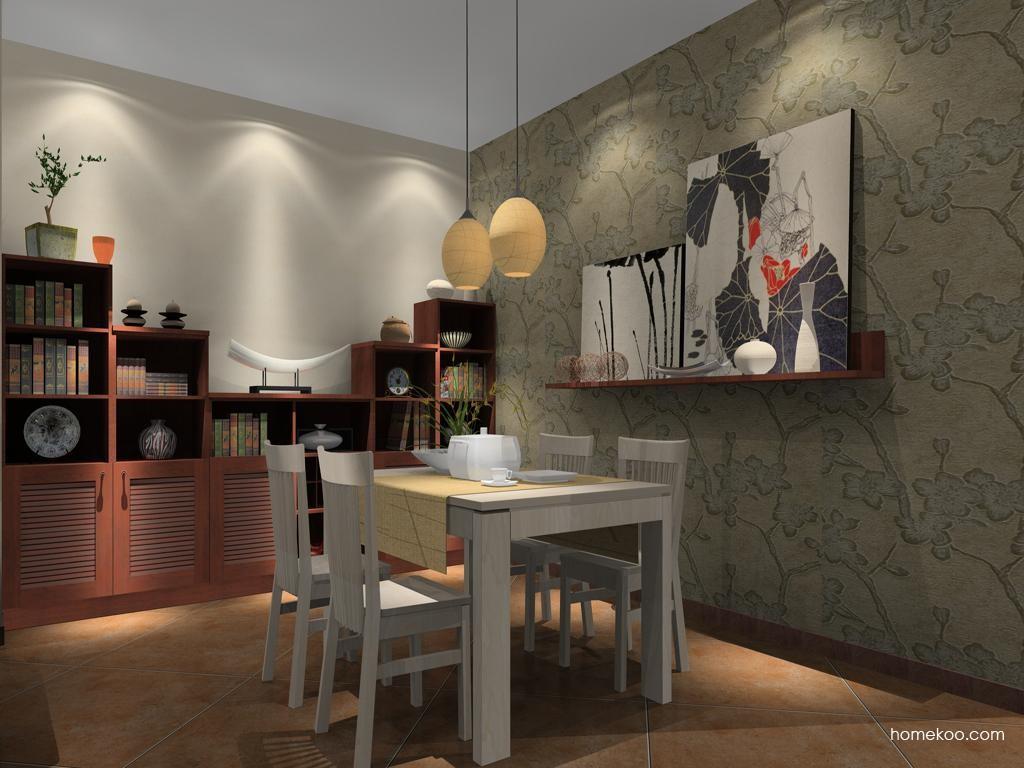 新中式主义餐厅家具E8292