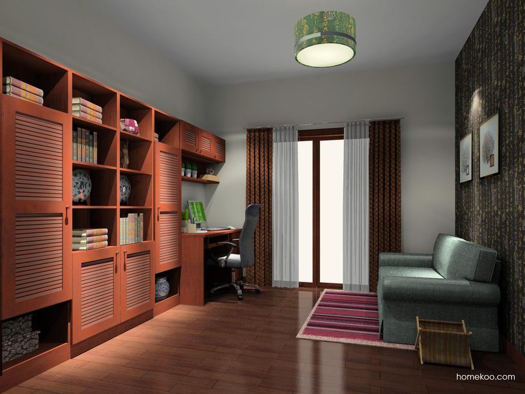 新中式主义书房家具C9592