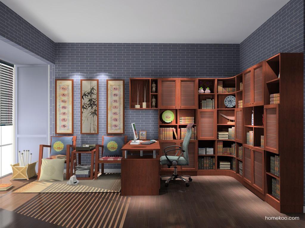 新中式主义书房家具C10290