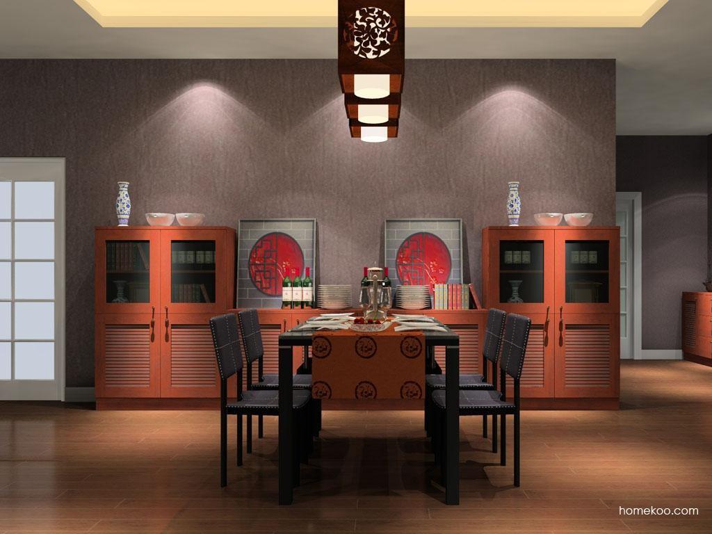 新中式主义餐厅家具E8415