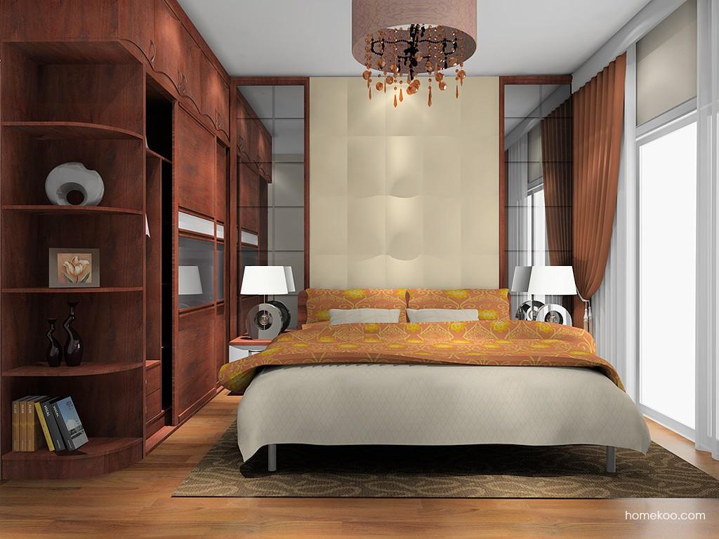 挪威月色卧房家具A2404