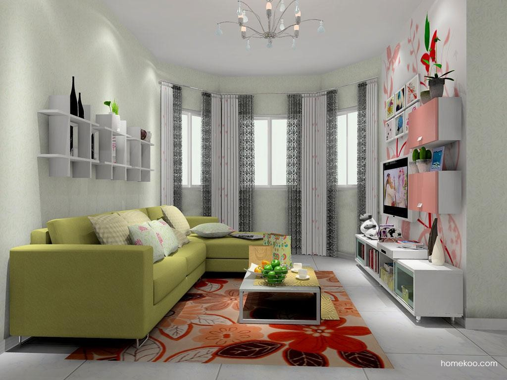 浪漫主义客厅家具D8469