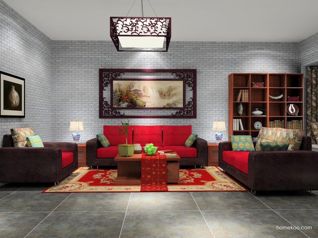 新中式主义客厅家具D8498
