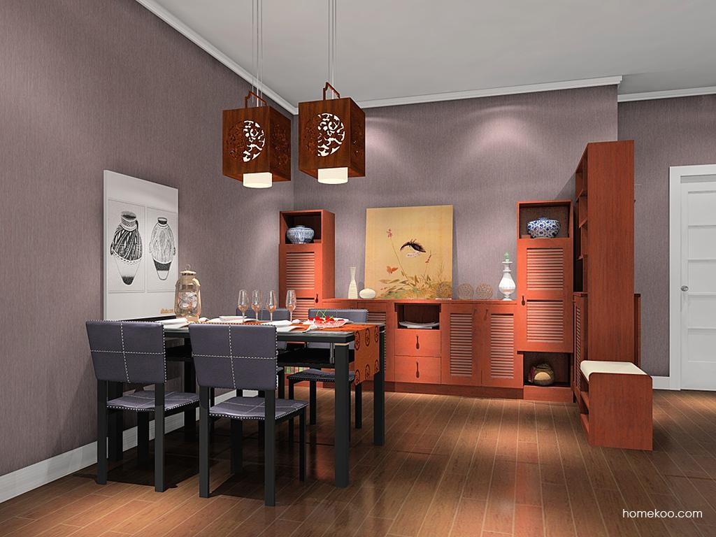 新中式主义餐厅家具E8493