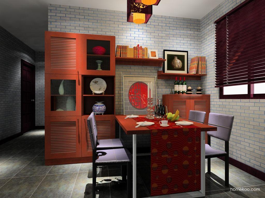 新中式主义餐厅家具E8505