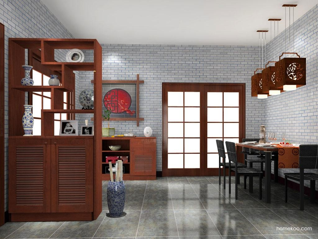 新中式主义餐厅家具E8518