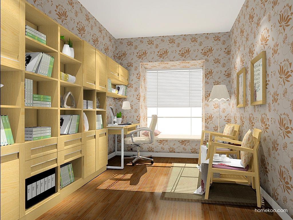 丹麦本色书房家具C10467