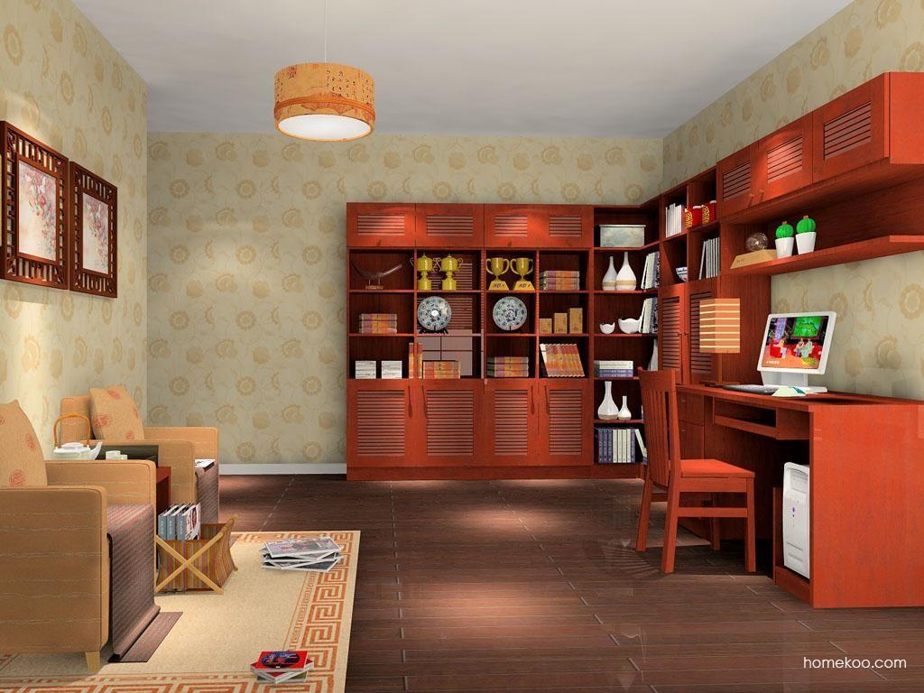 新中式主义书房家具C10471