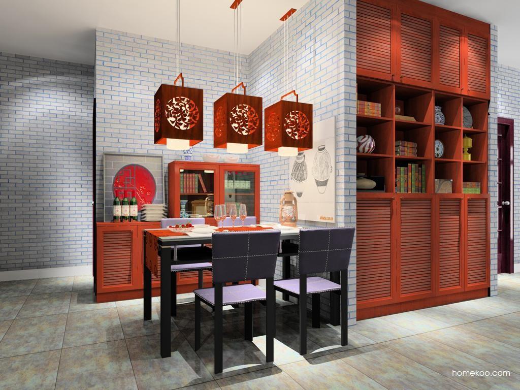 新中式主义餐厅家具E8655