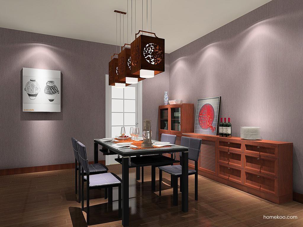 新中式主义餐厅家具E8715