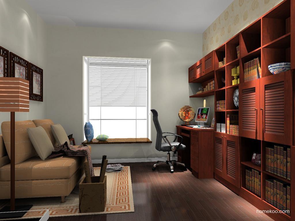 新中式主义书房家具C10574