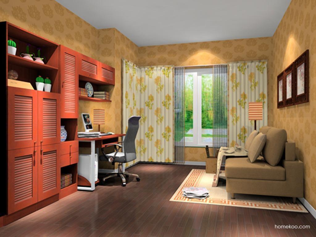 新中式主义书房家具C10576