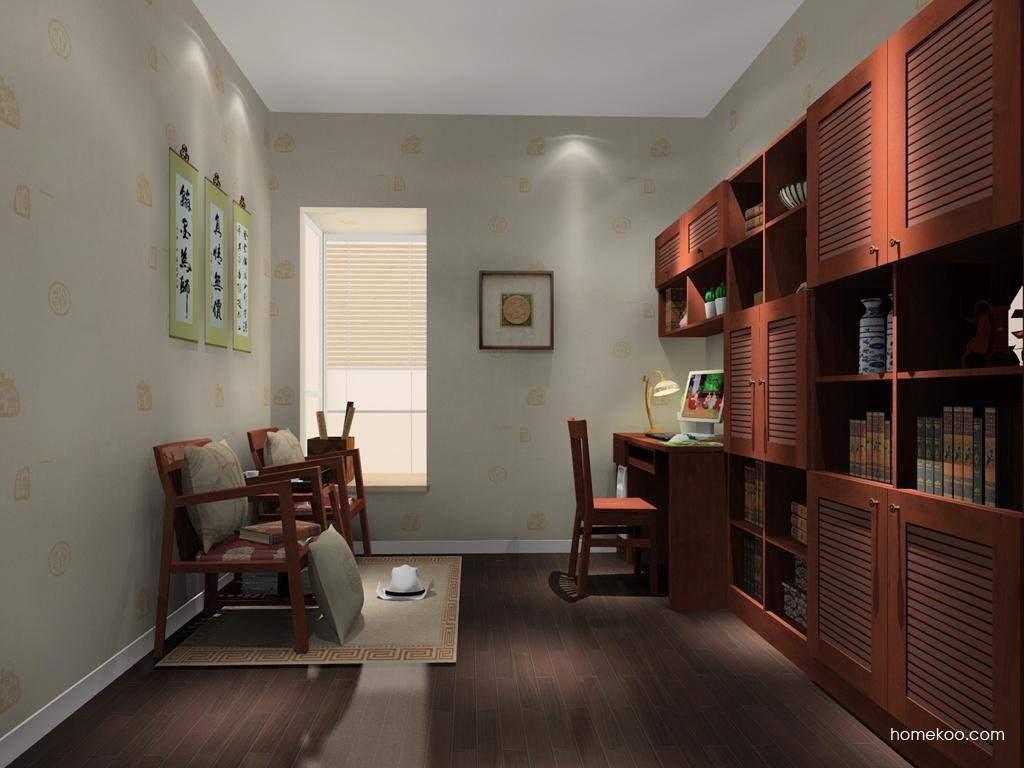 新中式主义书房家具C10583