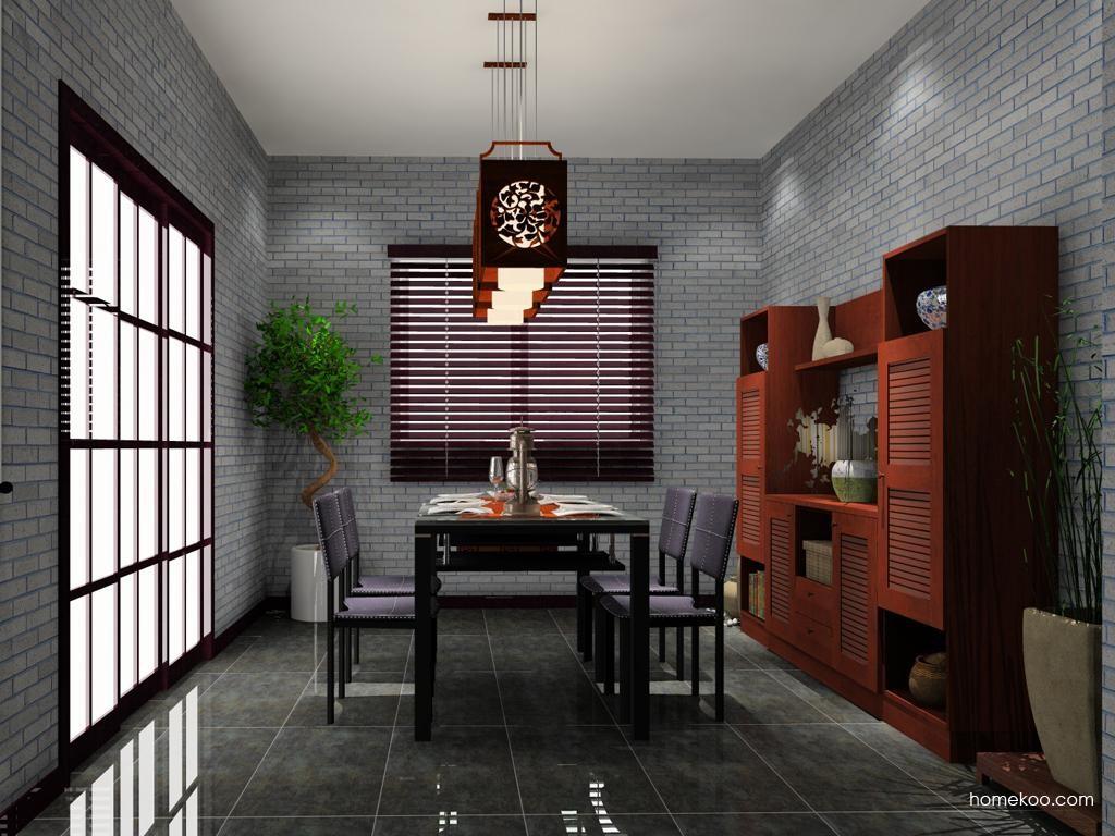 新中式主义餐厅家具E8948