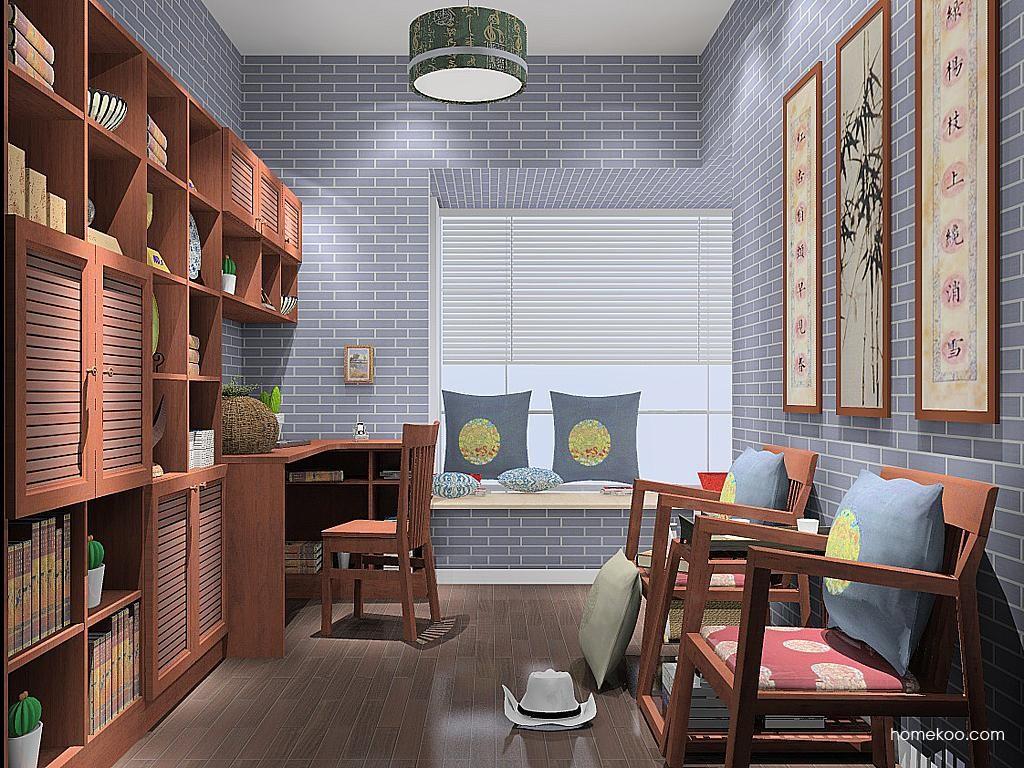 新中式主义书房家具C10629