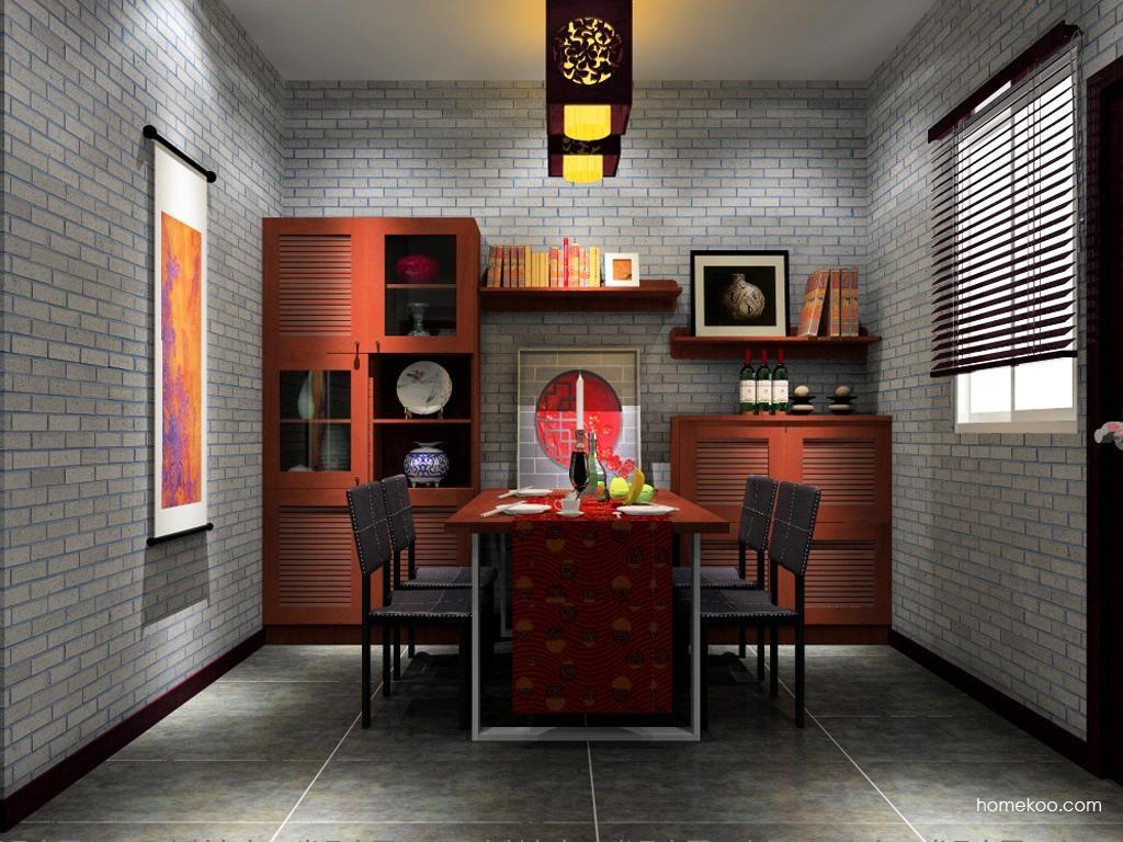 新中式主义餐厅家具E9087