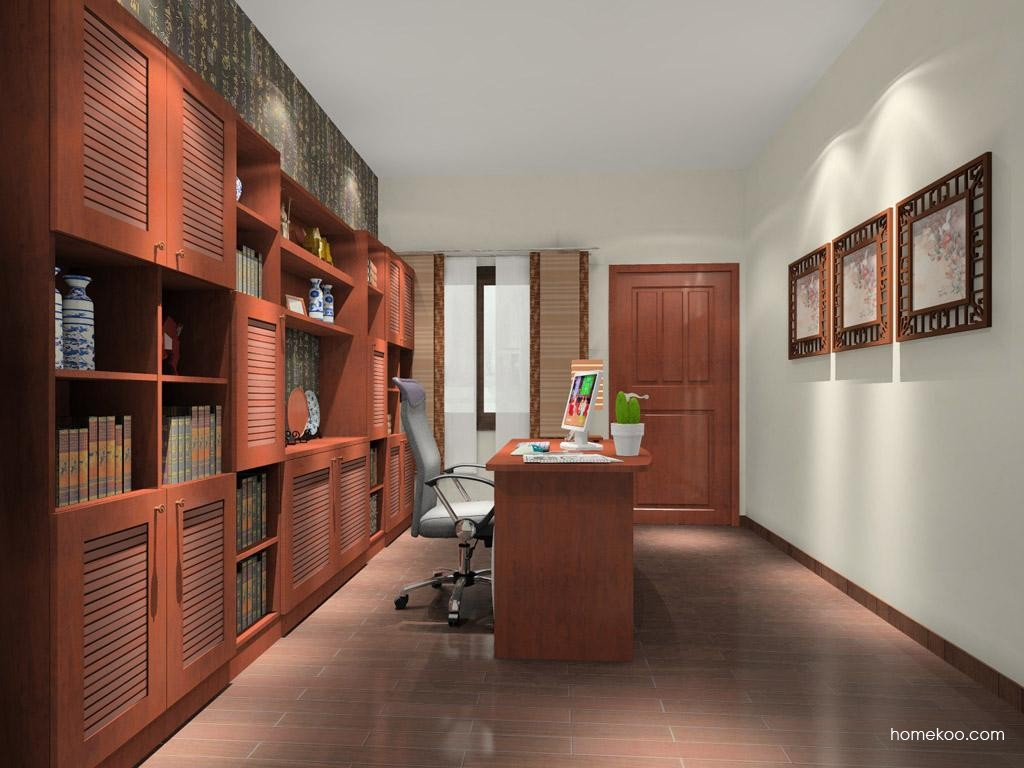 新中式主义书房家具C10637