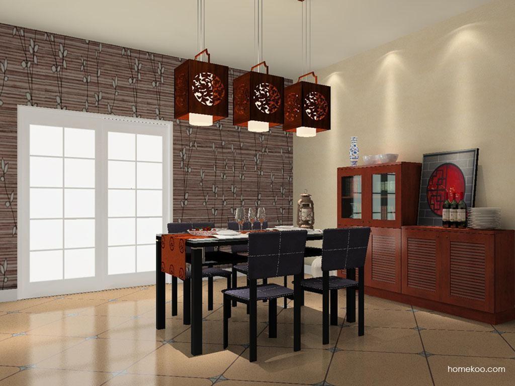 新中式主义餐厅家具E9149
