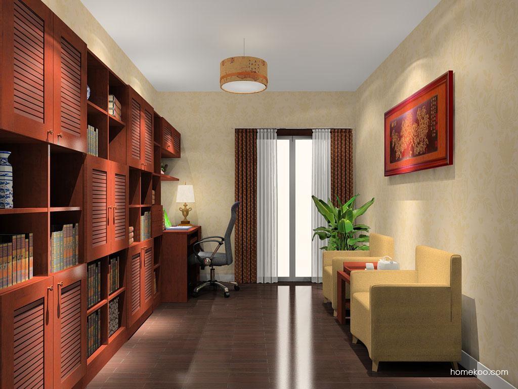 新中式主义书房家具C10689