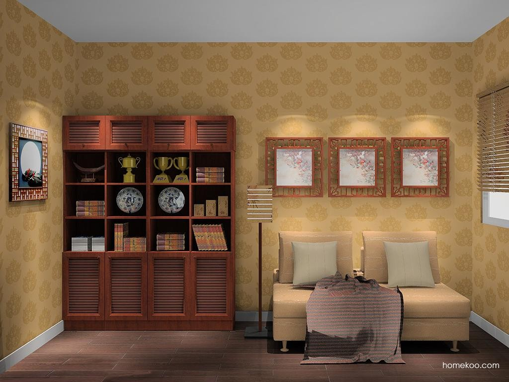 新中式主义书房家具C10773
