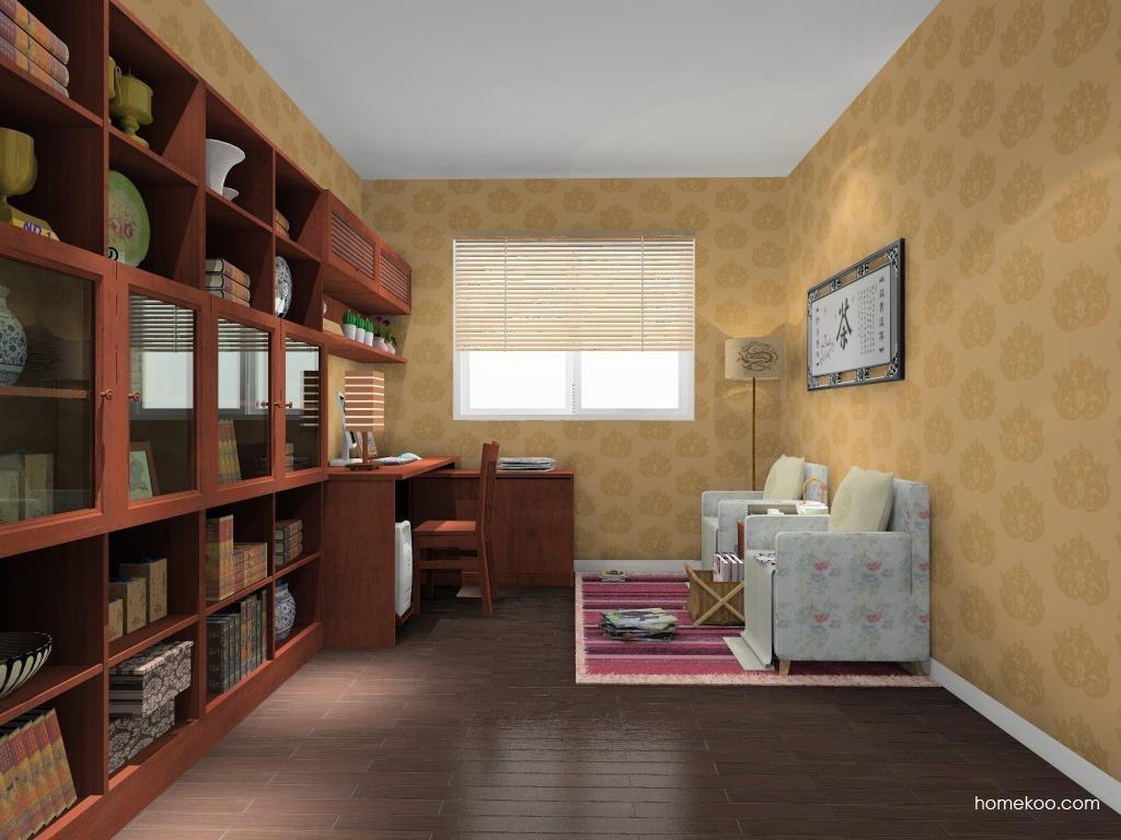 新中式主义书房家具C10782