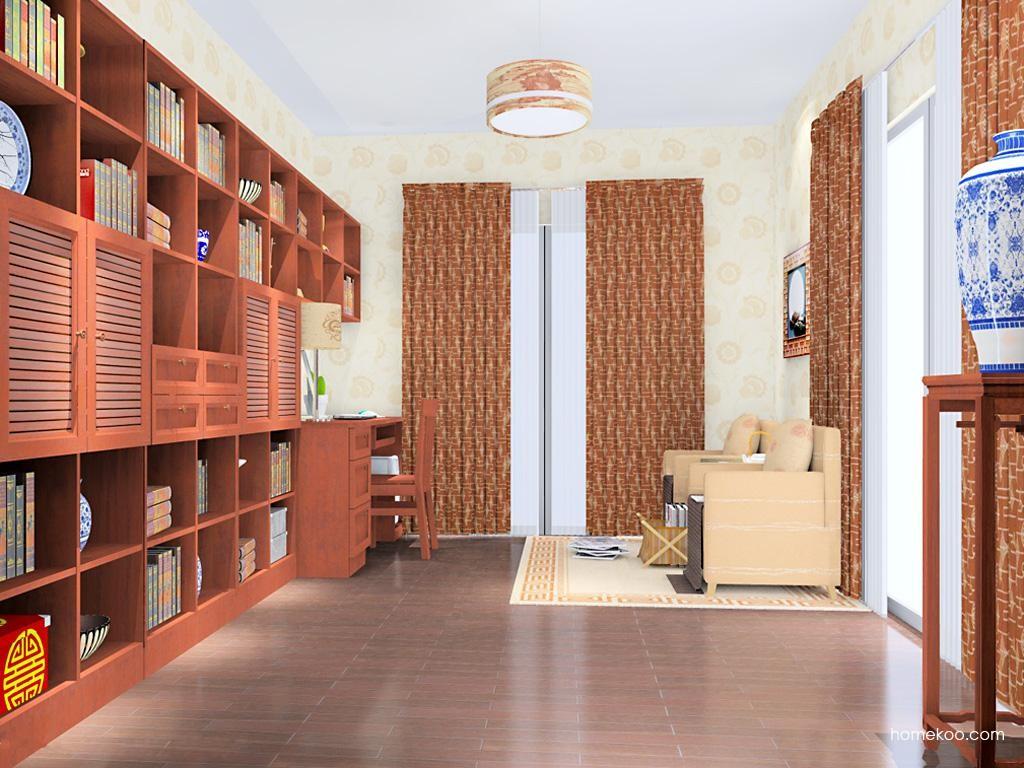 新中式主义书房家具C10792
