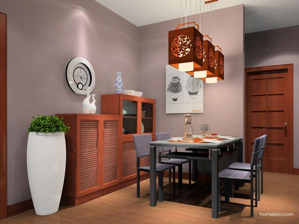 新中式主义餐厅家具E9873