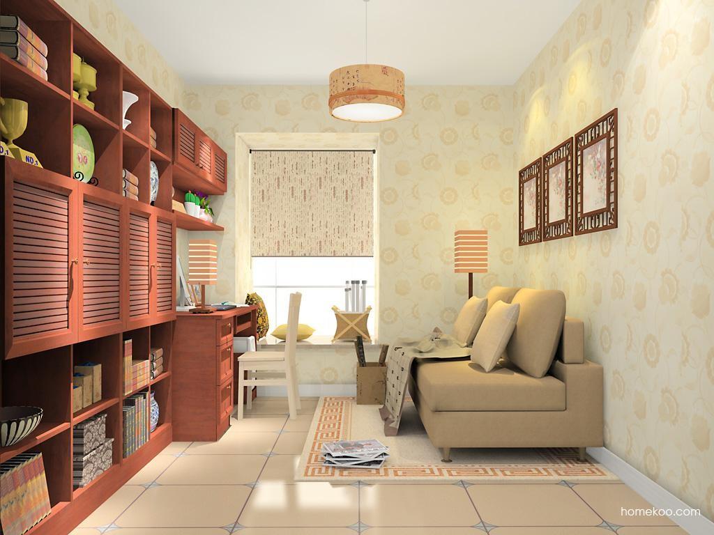 新中式主义书房家具C10821