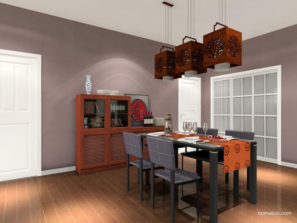 新中式主义餐厅家具E10099