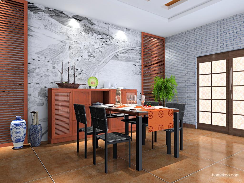 新中式主义餐厅家具E10178