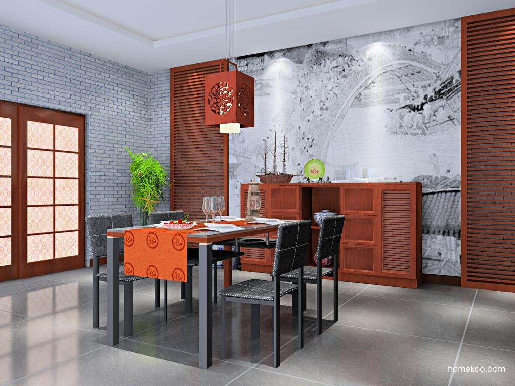 新中式主义餐厅家具E10217