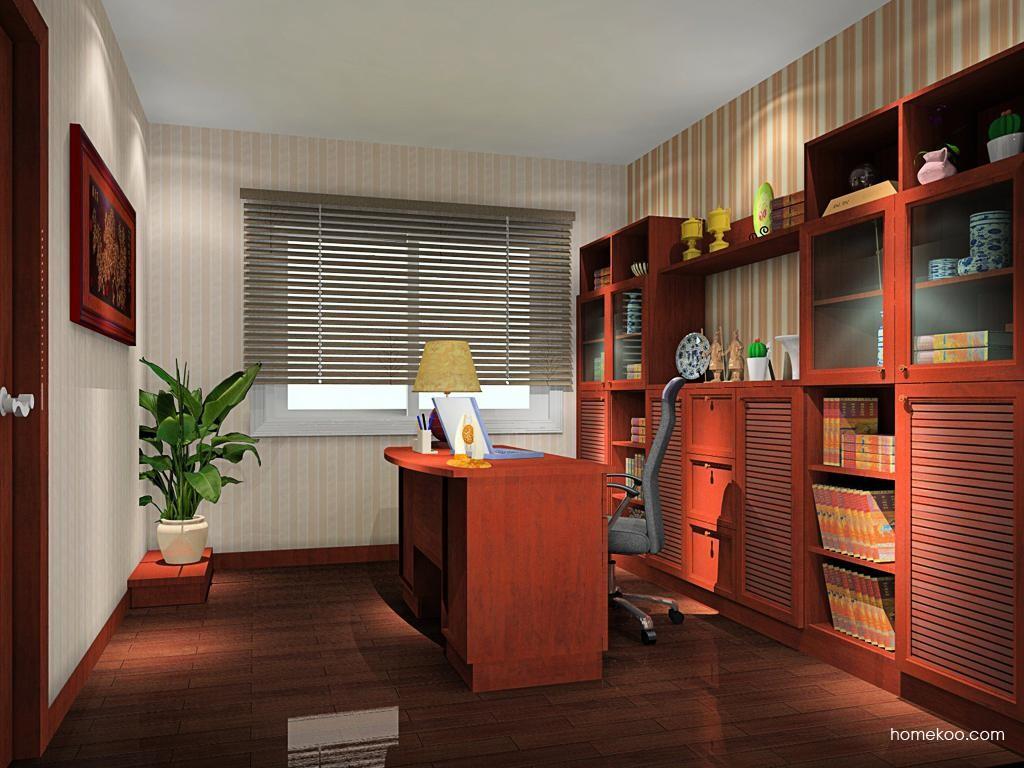 新中式主义书房家具C10898
