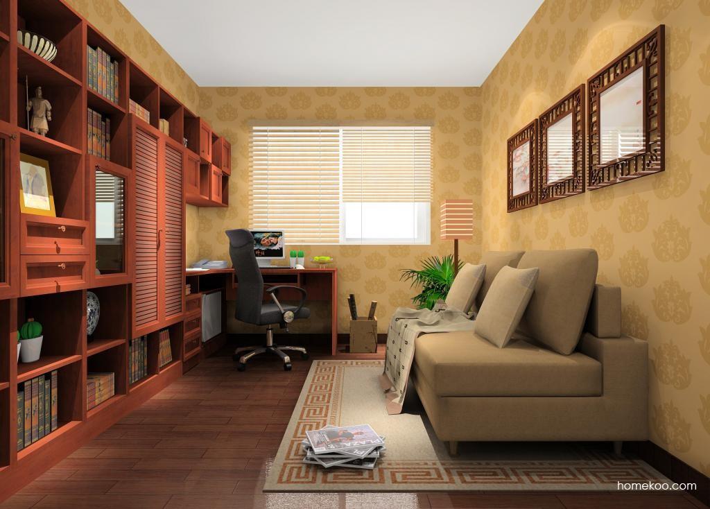 新中式主义书房家具C11011