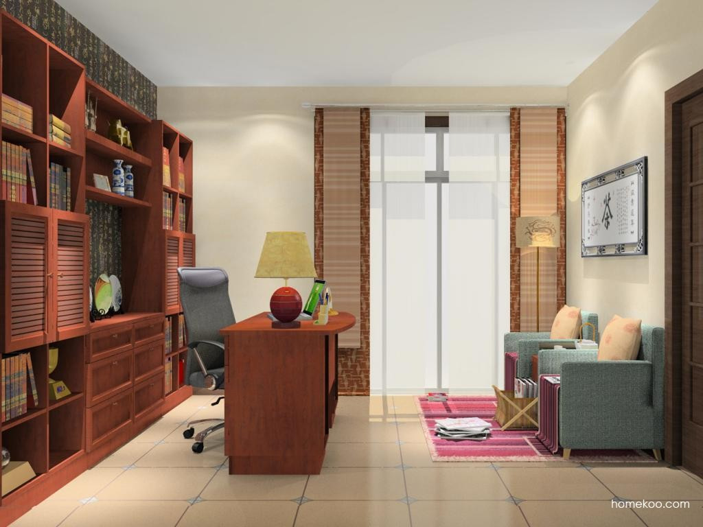 新中式主义书房家具C11023