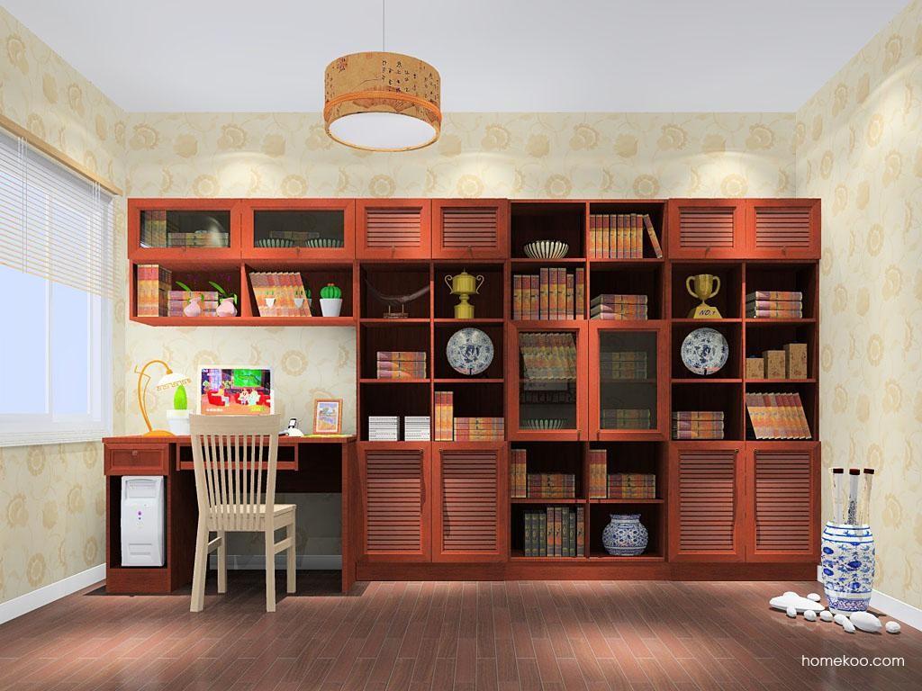新中式主义书房家具C11047