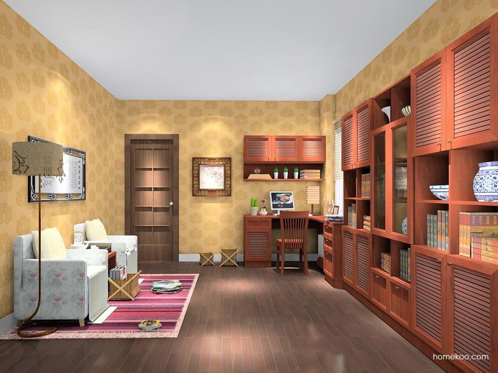 新中式主义书房家具C11048
