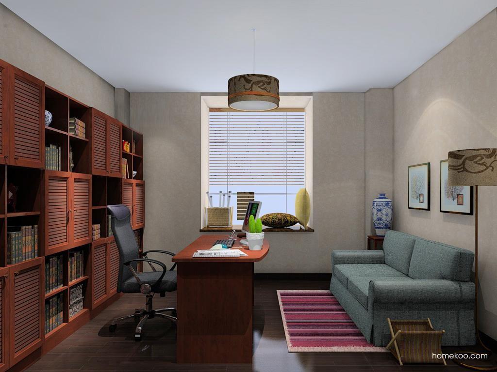 新中式主义书房家具C11087
