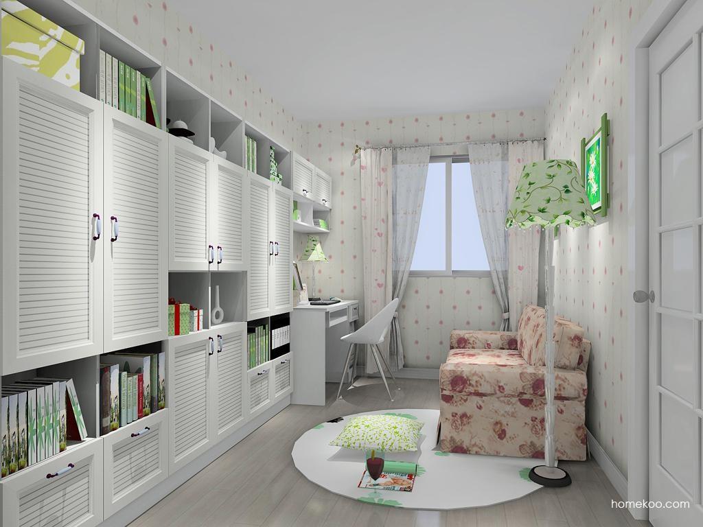 韩式田园书房家具C11122