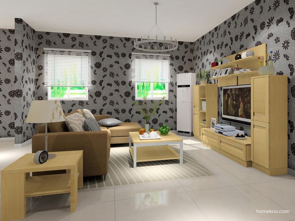 丹麦本色客厅家具D13584