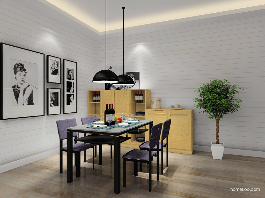 丹麦本色餐厅家具E10598