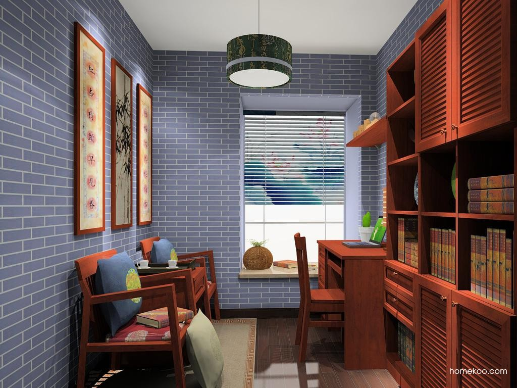 新中式主义书房家具C11231