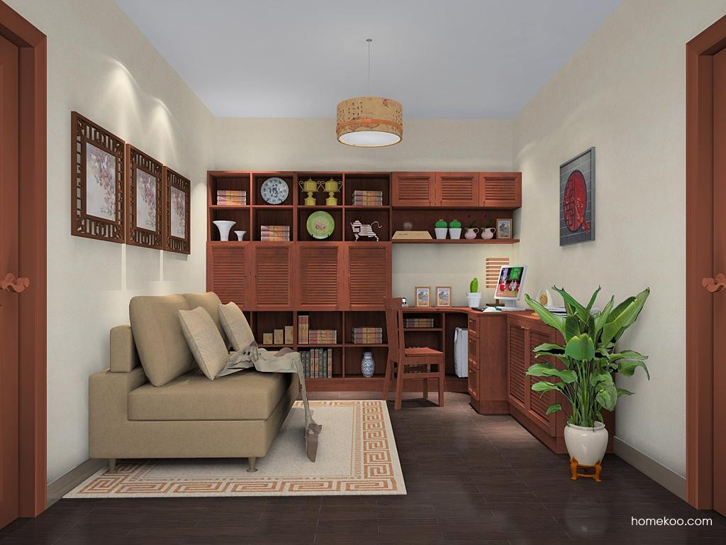 新中式主义书房家具C11235