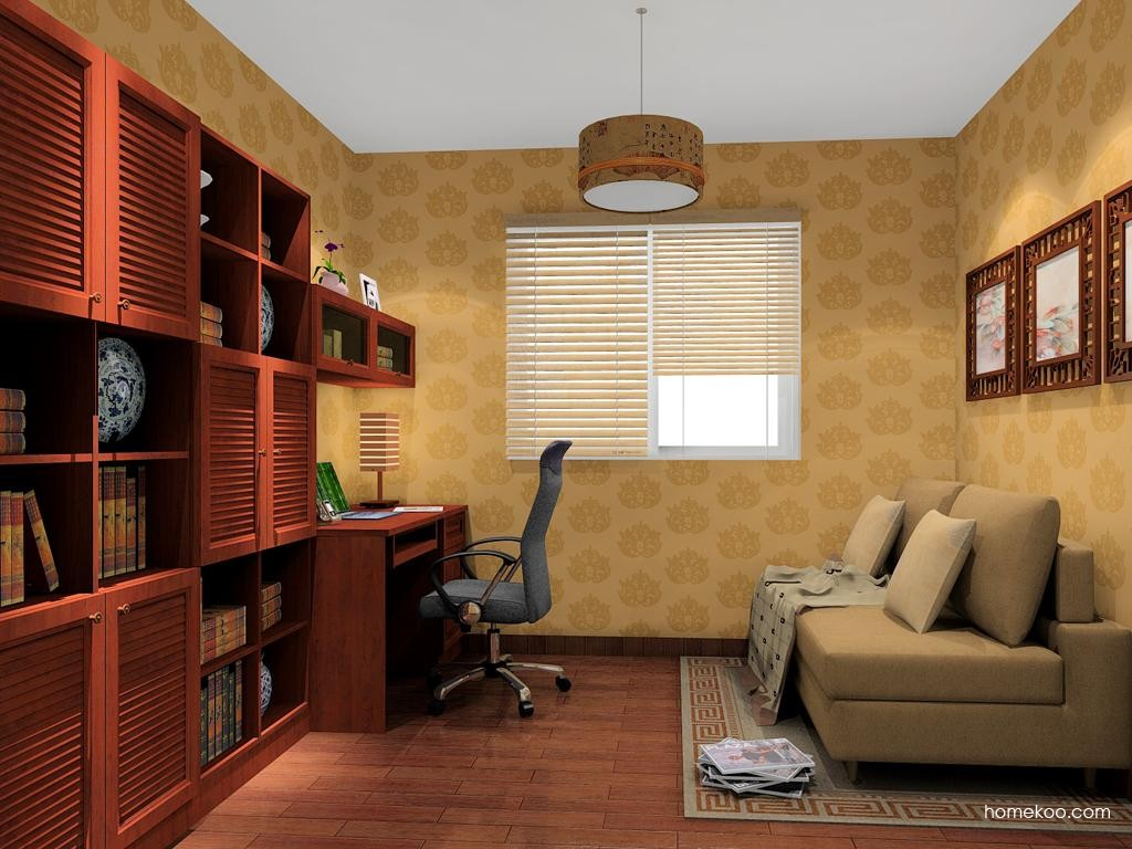 新中式主义书房家具C11290