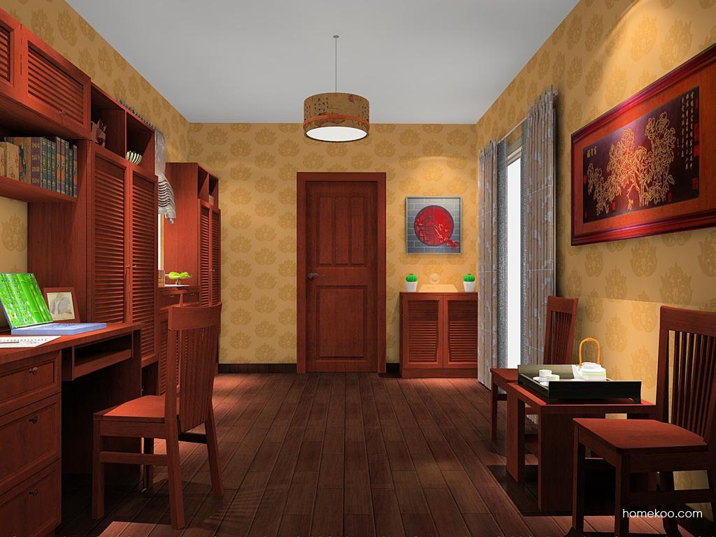 新中式主义书房家具C11304