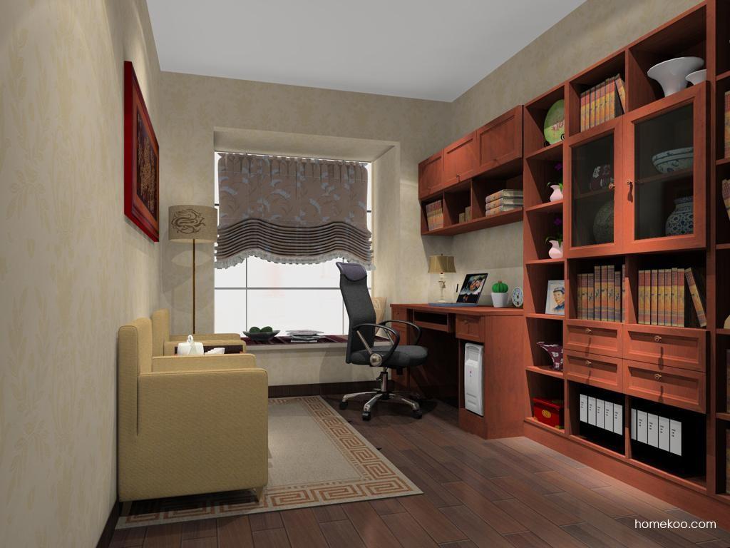 新中式主义书房家具C11313